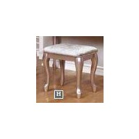 CAROLINE COLLECTION - Caroline Metallic Lilac Vanity Stool
