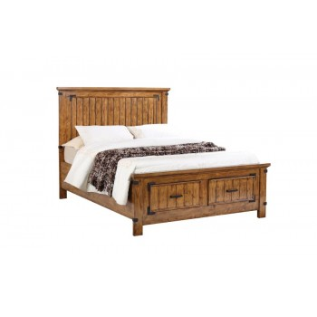 BRENNER COLLECTION - Brenner Rustic Honey Queen Bed