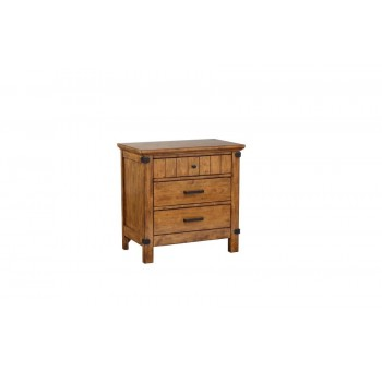 BRENNER COLLECTION - Brenner Rustic Honey Nightstand