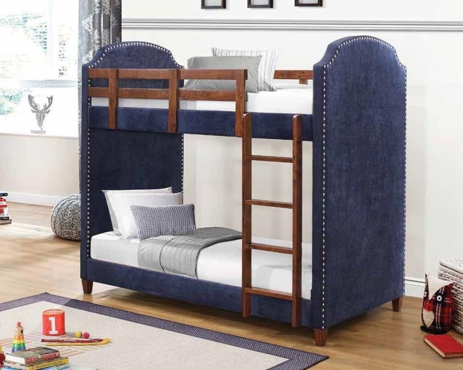 Charlene Collection Charlene Traditional Navy Twin Over Twin Bunk