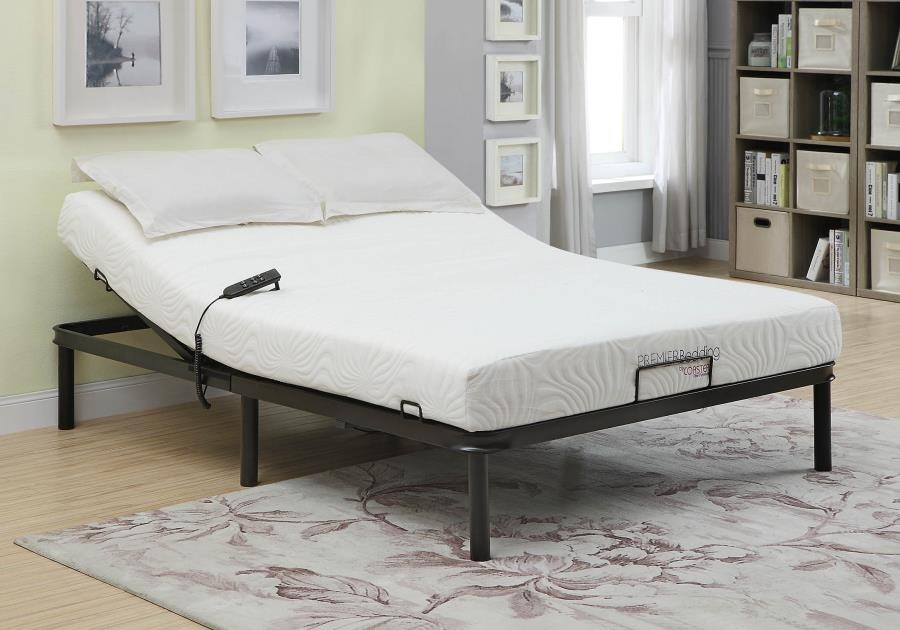 STANHOPE ADJUSTABLE BED BASE - Stanhope Black Adjustable King Bed Base