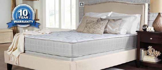 CRYSTAL COVE II PLUSH - Crystal Cove II Plush White Eastern King Mattress