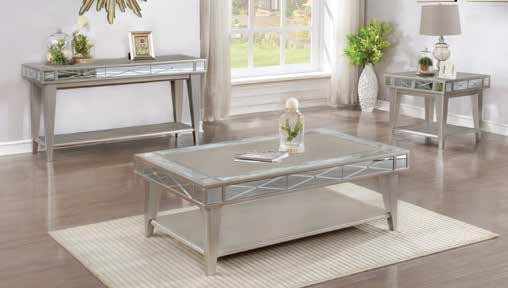 LIVING ROOM : TRADITIONAL OCCASIONAL TABLES - Bling Mirrored End Table