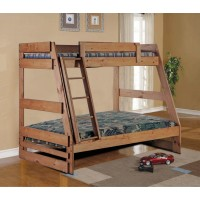 Twin over Queen Bunkbeds With Ladder