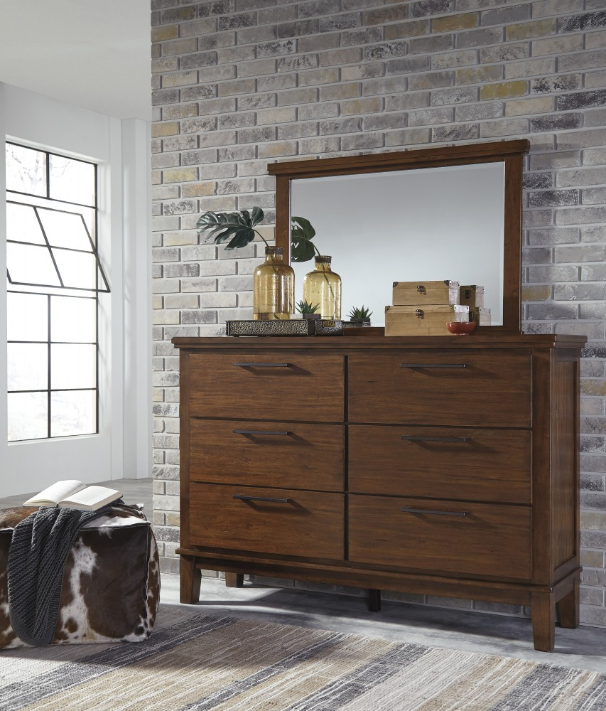 Ralene dresser mirror b594 31 36 bedroom dressers with mirrors price busters furniture for Ashley furniture ralene bedroom set