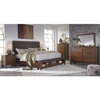 Ralene 5 Pc. Bedroom - Dresser, Mirror & Queen UPH Bed with Storage