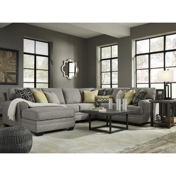 Cresson Pewter 4 Pc Laf Chaise Sectional 54907 16 34