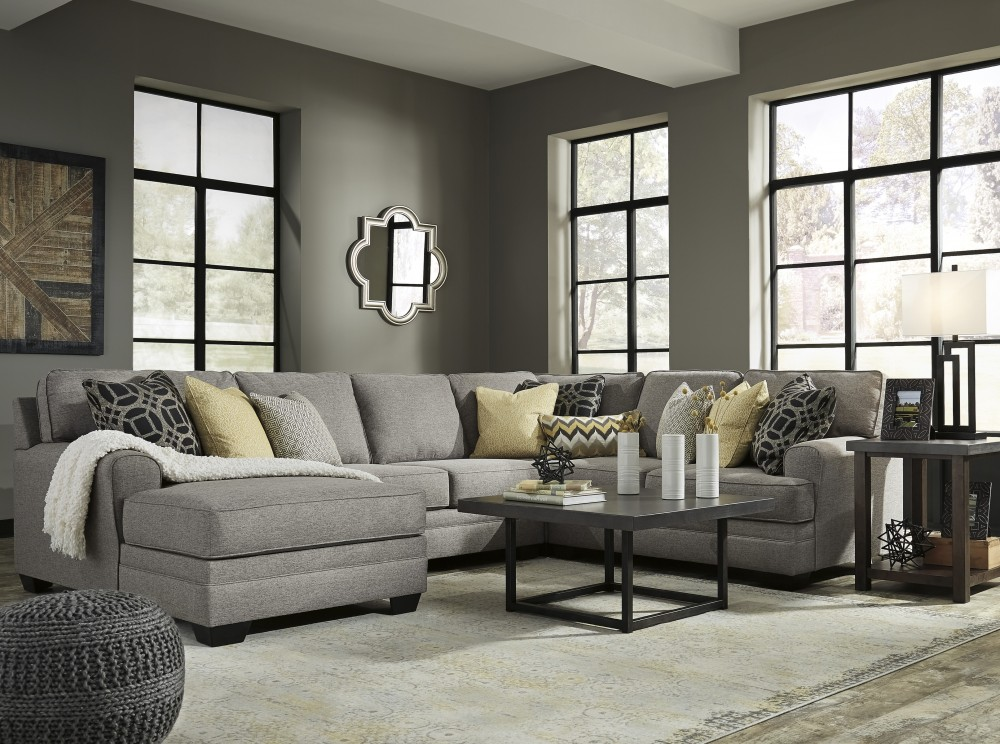 Cresson   Pewter 4 Pc. LAF Chaise Sectional