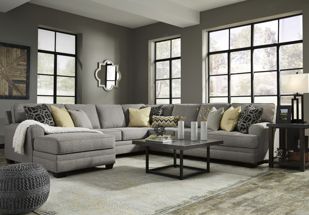 Cresson Pewter 5 Pc Laf Chaise Sectional 54907 16 34