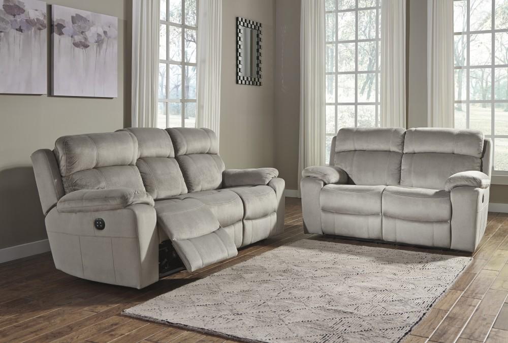 Uhland - Granite - Reclining Power Sofa & Loveseat