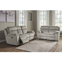 Uhland - Granite - Reclining Power Sofa & Loveseat