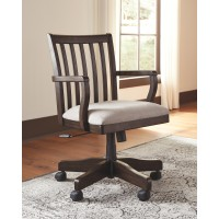 Townser - Grayish Brown - Home Office Swivel Desk Chair