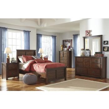 Ladiville Twin Bed, Dresser & Mirror