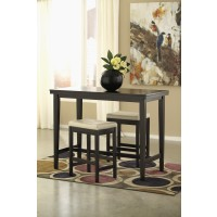 Kimonte Pub Table & 2 Cream Bar Stools