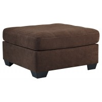 Maier - Walnut - Oversized Accent Ottoman