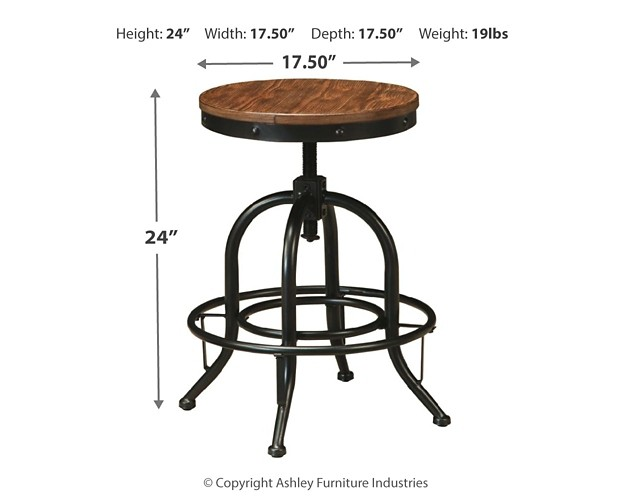 Pinnadel Swivel Stool Set Of 2 D542 224 Bar Stools