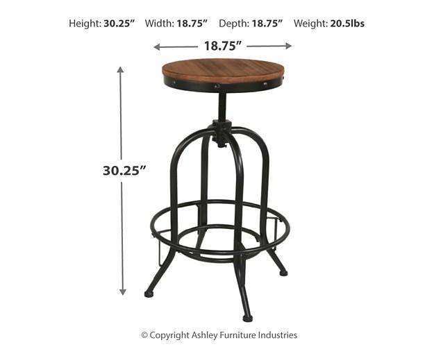 Pinnadel Tall Swivel Stool Set Of 2 D542 230 Bar
