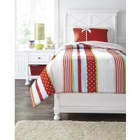 Kielle - Red - Twin Comforter