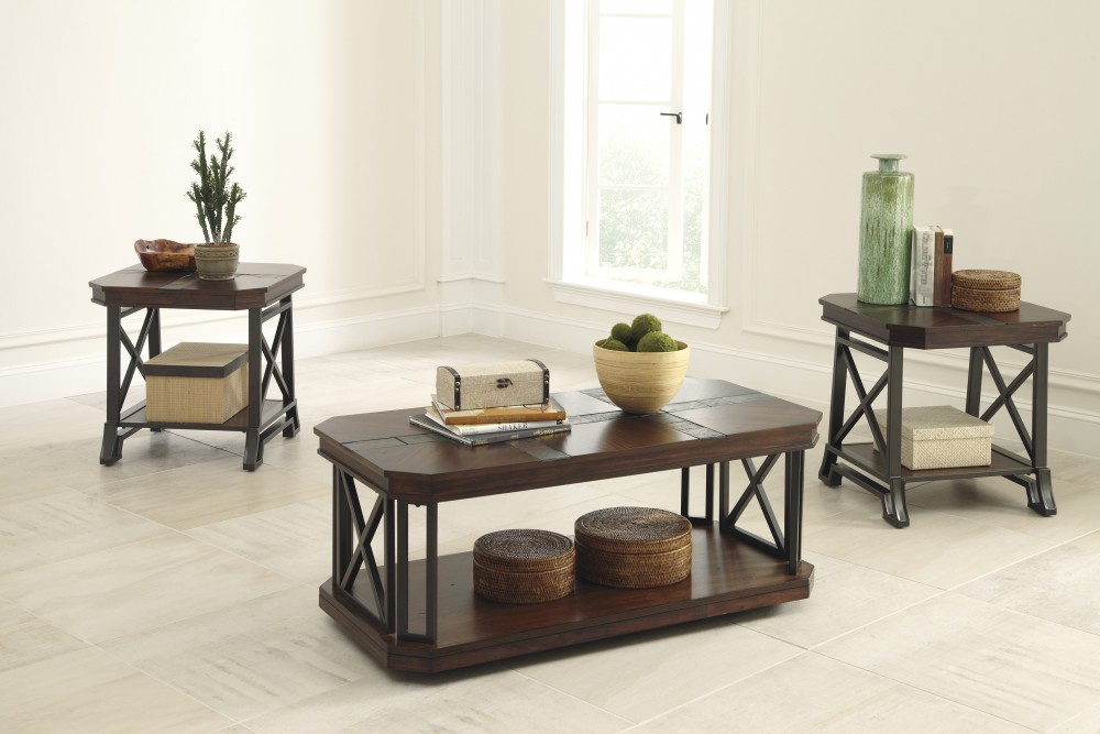 Vinasville - Occasional Table Set (Set of 3) & Vinasville - Occasional Table Set (Set of 3) | T552-13 | Three Pack ...