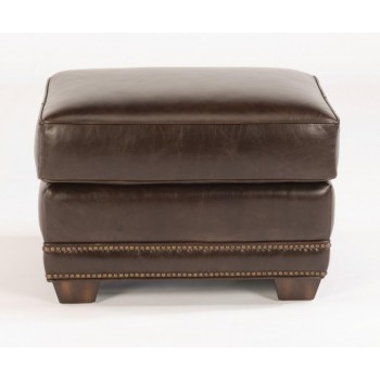 Raleigh Leather Ottoman