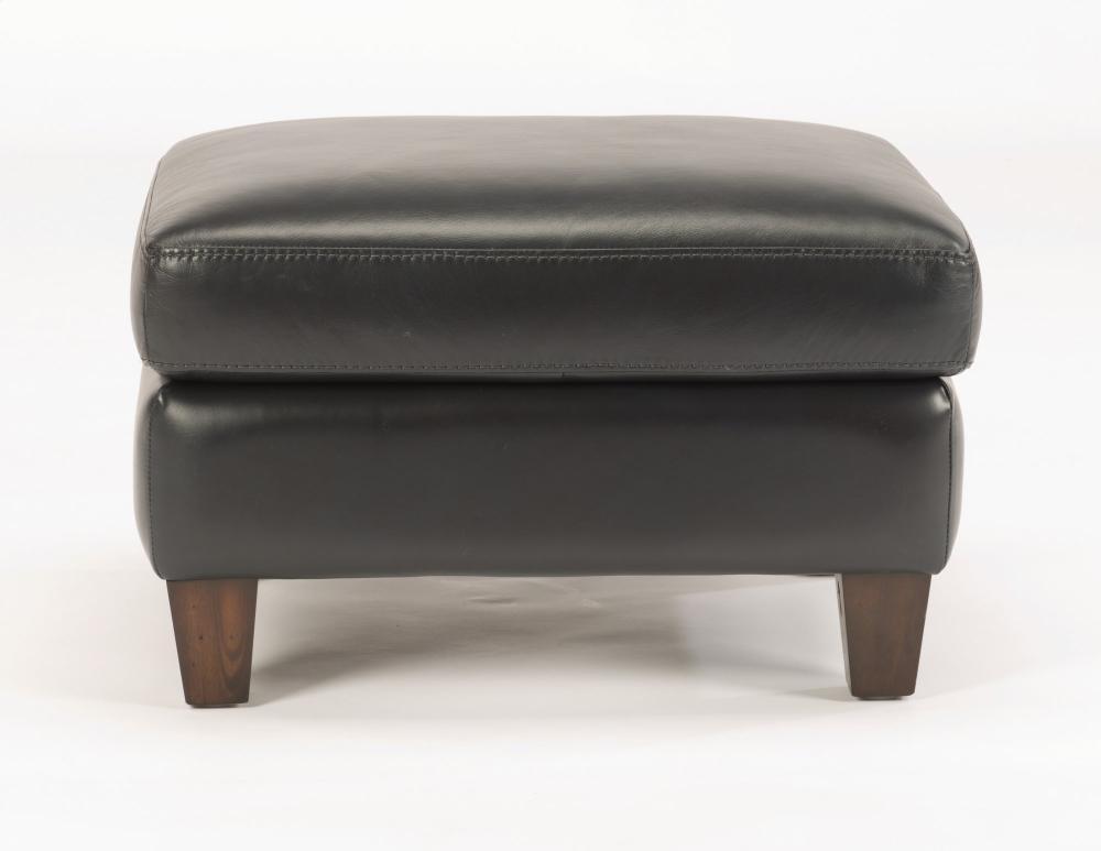 Exton Leather Ottoman
