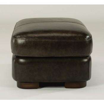 Jillian Leather Ottoman