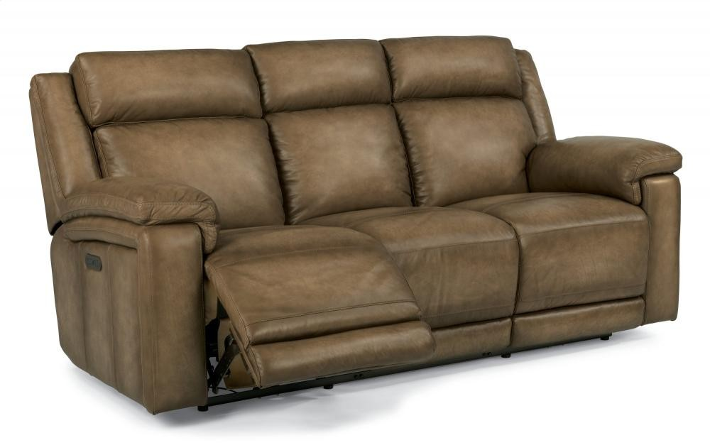 Brody Leather Power Reclining Sofa with Power Headrests New Design - New leather reclining sofa and loveseat In 2018
