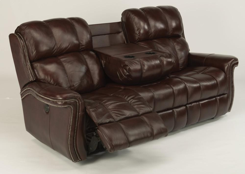 Challenger Leather Power Reclining Sofa 160162p