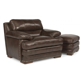 Dylan Leather Chair with Nailhead Trim