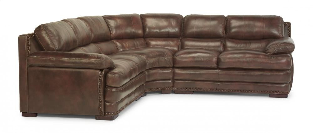 Dylan Leather Sectional With Nailhead Trim 1627sect