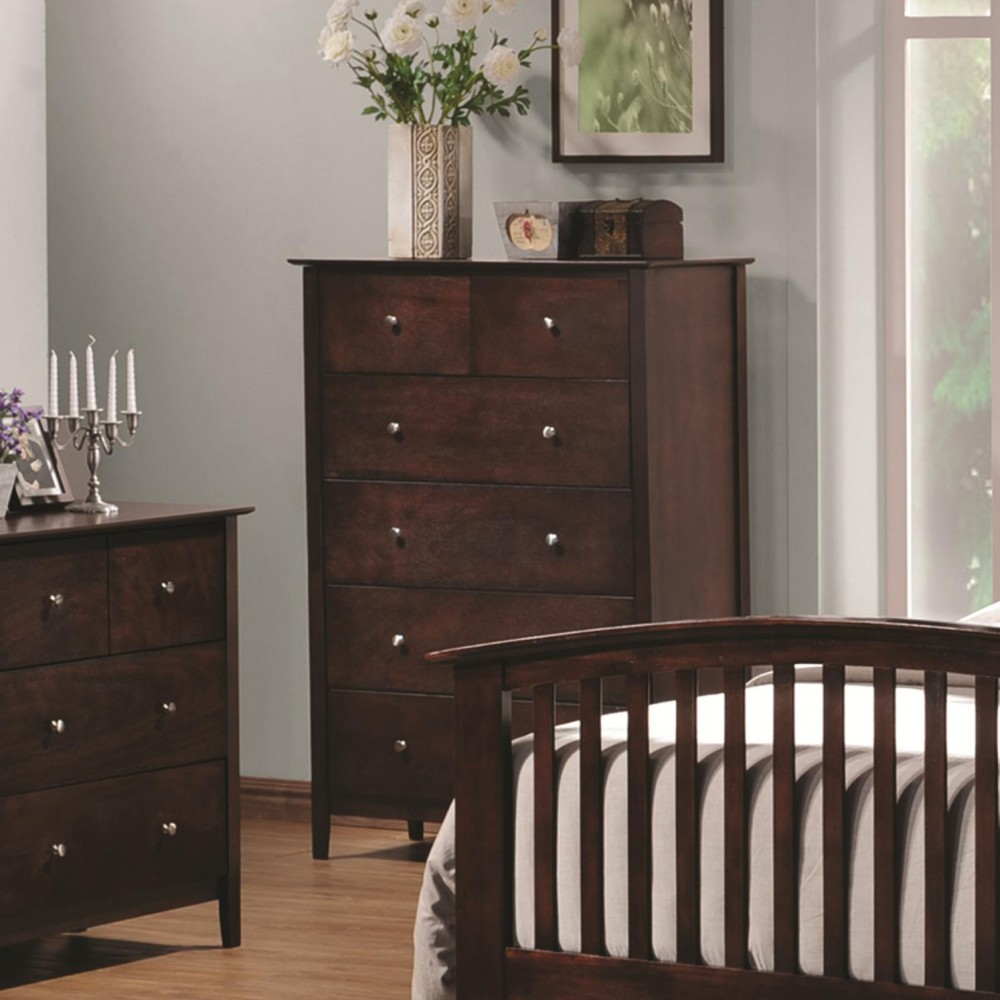 Tia Collection Vertical Chest with 5 Drawers
