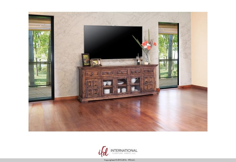 International Furniture Direct 83 Tv Stand W3 Glass Doors 2