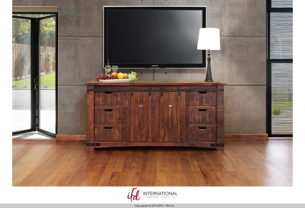 International Furniture Direct 70 Tv Stand W6 Drawer 2 Door W2