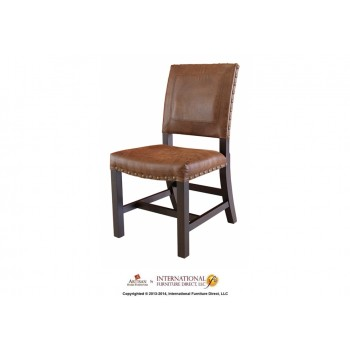 INTERNATIONAL FURNITURE DIRECT Chair with bonded Leather