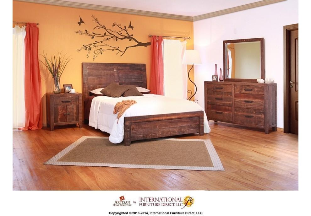 INTERNATIONAL FURNITURE DIRECT Bedroom Storage Trunk ...