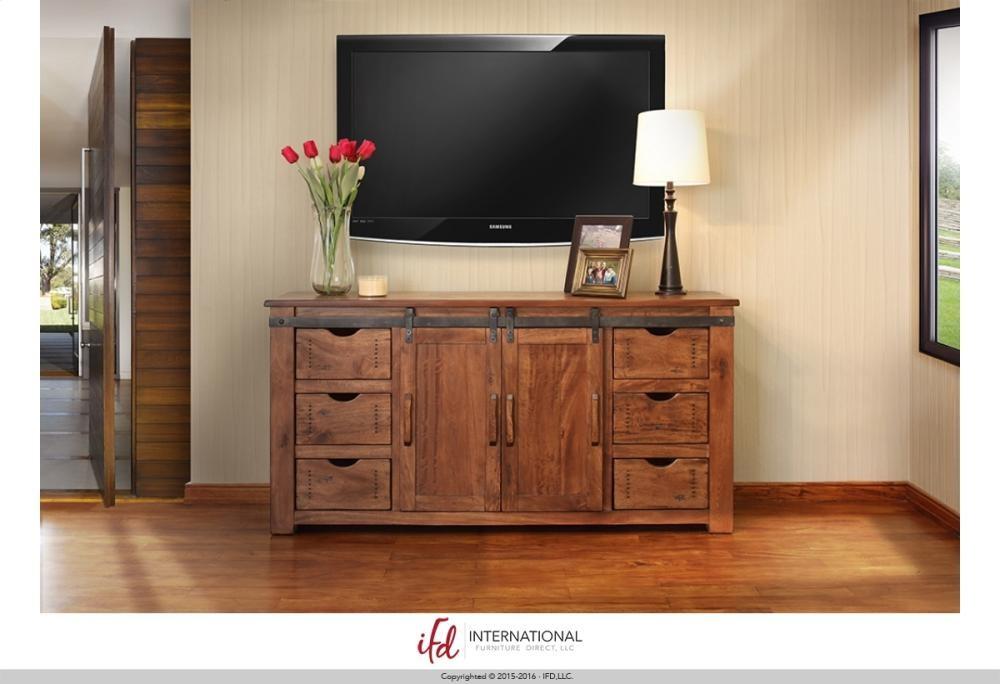 International Furniture Direct 70 Tv Stand W 6 Drawer 2 Door W 2