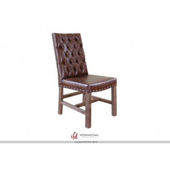INTERNATIONAL FURNITURE DIRECT Faux leather Chair with tufted back