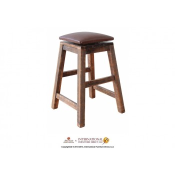 INTERNATIONAL FURNITURE DIRECT 24in Swivel Stool - with Faux Leather seat