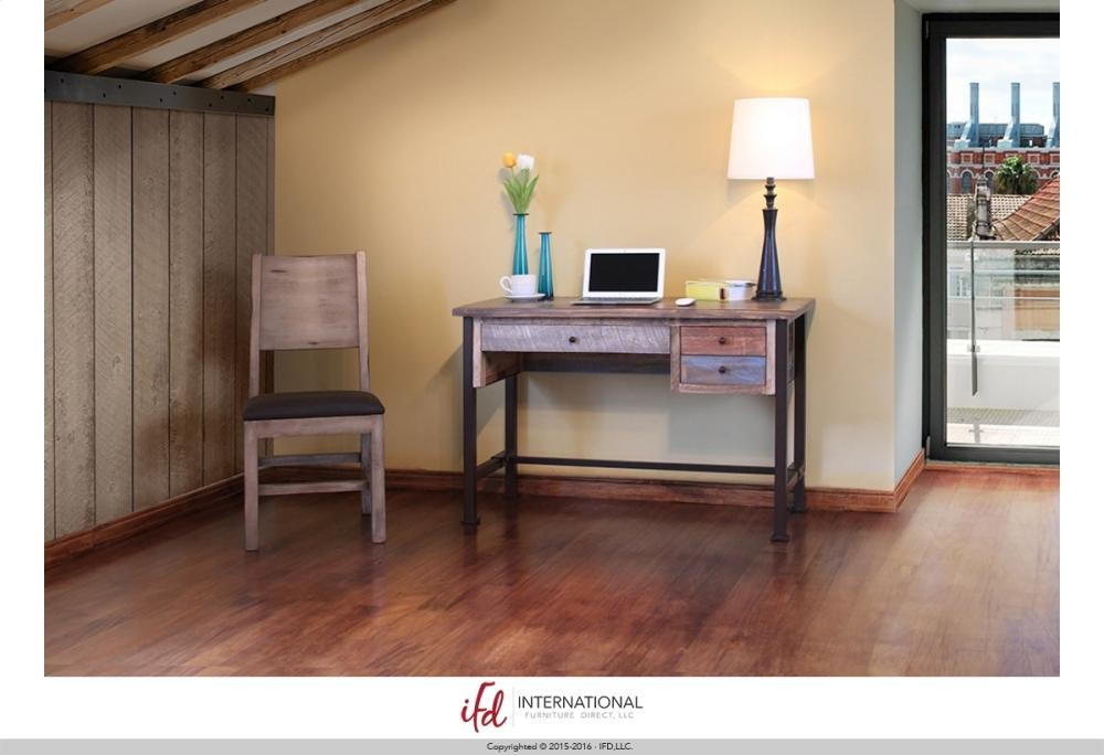 Merveilleux INTERNATIONAL FURNITURE DIRECT Writing Desk, Reclaimed Wood Finish