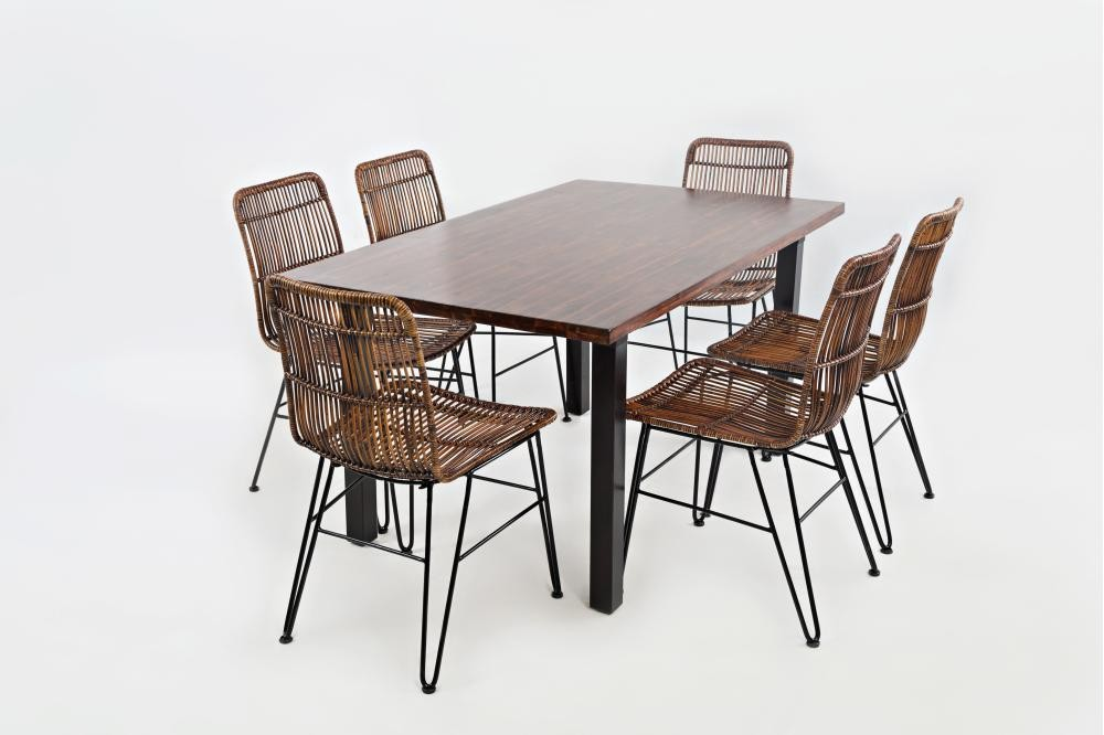 Urban Dweller Rattan And Metal Dining Chair
