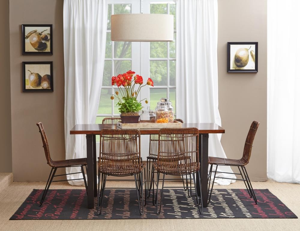 Well-liked Urban Dweller Rattan and Metal Dining Chair   Side Chairs  UO85