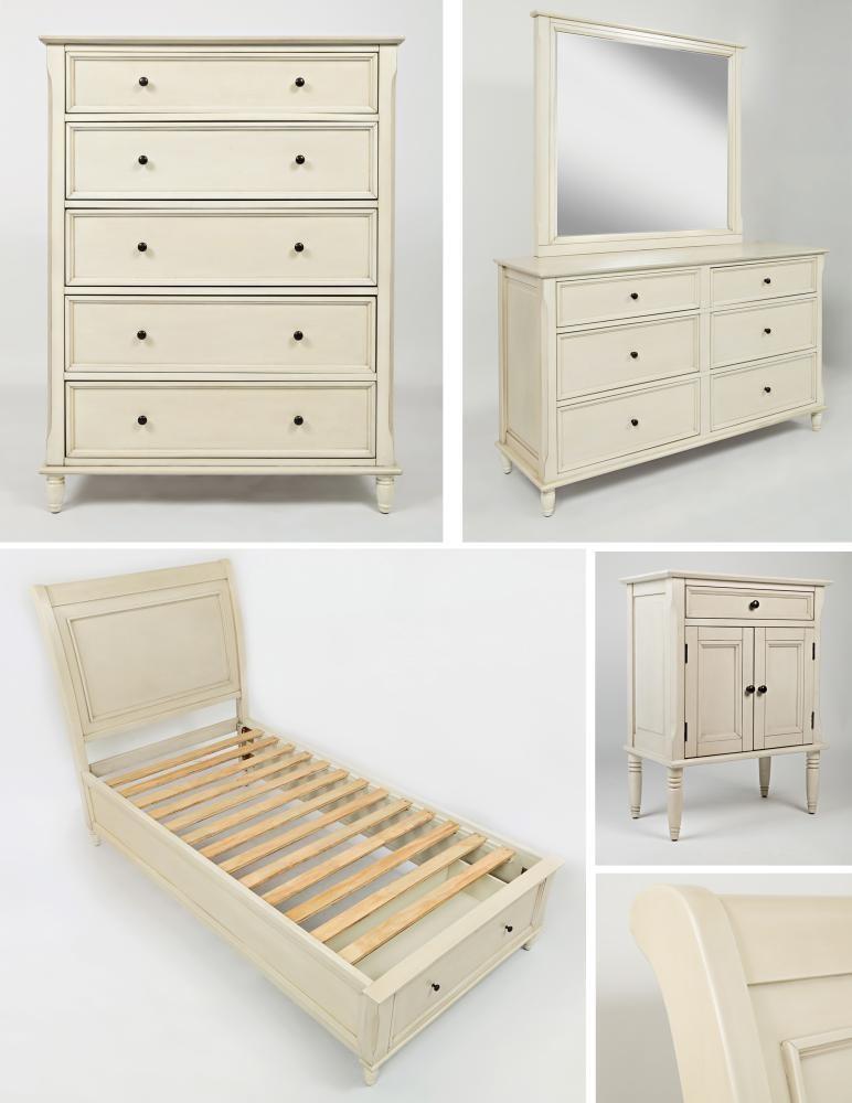 Avignon ivory dresser mirror dressers pruitt 39 s fine for Pruitts bedroom sets