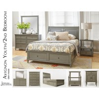 Avignon Grey Twin Trundle Bed