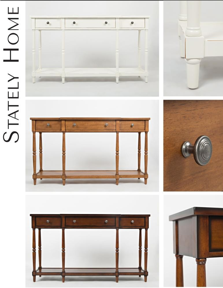 Simple Elegant Console Antique White Stately Home 60 Minimalist - Awesome antique white sofa table Contemporary