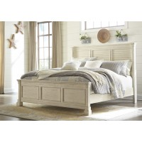 Bolanburg Cal King Panel Bed with Louvered Headboard
