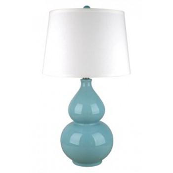 Saffi Light Blue Ceramic Table Lamp 1 Cn L100044 Lamps