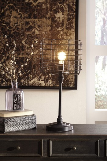 Javan Antique Black Metal Table Lamp 1 Cn L207164 Lamps