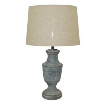 Jehoram   Blue   Wood Table Lamp (1/CN)