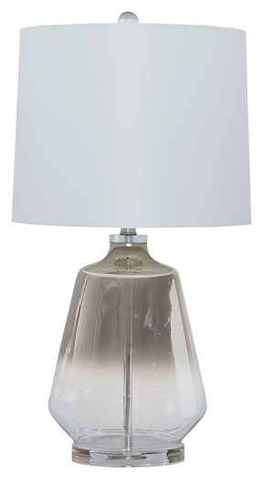 Jaslyn Silver Finish Glass Table Lamp 1 Cn L430414 Lamps