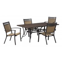 Carmadelia - Tan/Brown - RECT Dining Table w/UMB OPT